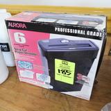 Aurora strip-cut paper shredder