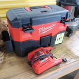 Milwaukee wet/dry vacuum, battery operated