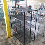 wire shelving unit w/ immovable shelves