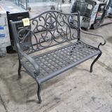 TX cast iron bench