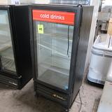 True glass door cooler