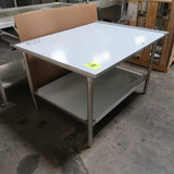 NEW stainless table, w/ lip on 3 sides