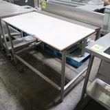 polytop table w/ backsplash