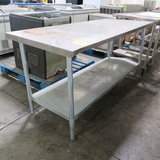 stainless table w/ undershelf