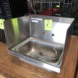 NEW hand sink w/ faucet & side splashes