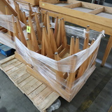 pallet of wooden tables