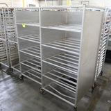 aluminum tray racks, w/ 3) sides
