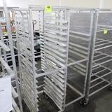 aluminum sheet pan racks