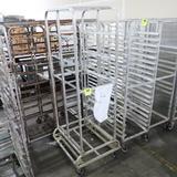 aluminum sheet pan rack, w/ wide base