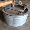 circular watering trough, w/ casters