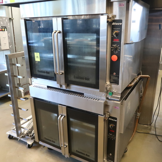Hardt Blaze double-stack rotisserie, w/ chicken cooling rack & extra spits