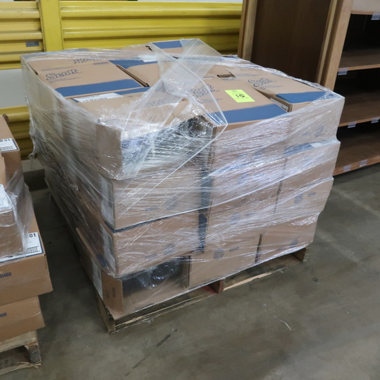 pallet of Scott paper towell dispensers