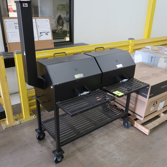 ASF BBQ pit w/ dual cooking chambers