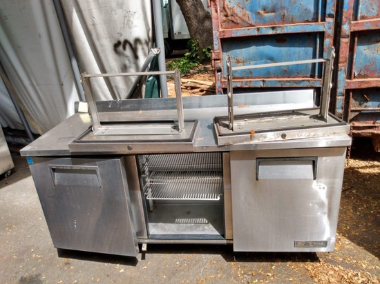 True 6' Stainless Worktop Refrigerator