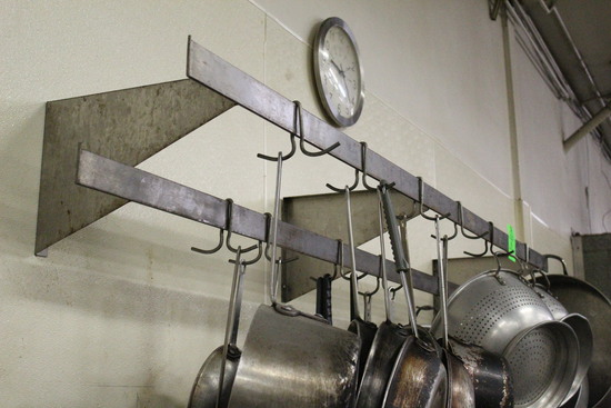 7' Wall Mounted Utensil Rack