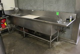 Stainless Steel Two Compartment Sink