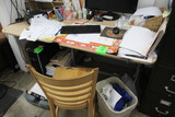 Desk And Wooden Chair