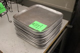 """Group Of 12x12"""" Stainless Plates"""