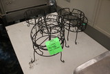 Group Of Wire Tabletop Stands