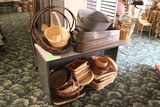 Group Of Wicker Baskets And Metal Tubs