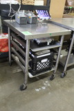 Stainless Steel Table On Casters W/ Cooling Rack