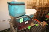 Plastic Tote W/ Hot Food Bags
