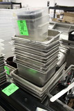 Assorted Sized Stainless Inserts And Plastic Bins
