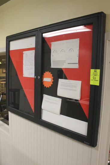 Quartet Locking Glass Framed Bulletin Board