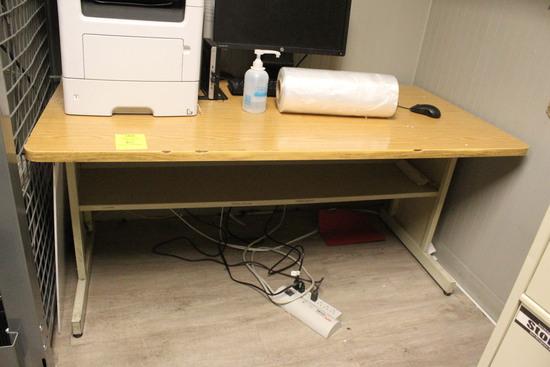 5' Metal Framed Desk