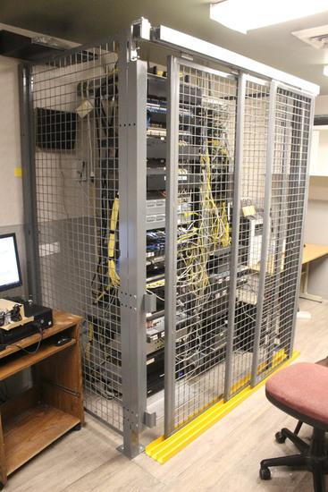 Equipment Storage Cage W/ Door Tracks