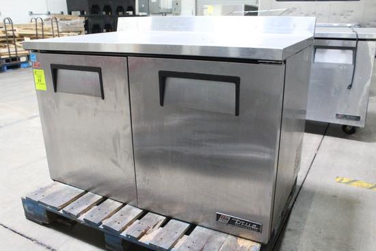 True 4' Stainless Worktop Refrigerator