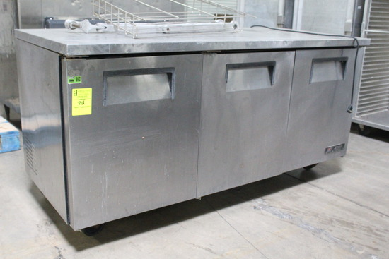 True 6' Stainless Undercounter Refrigerator