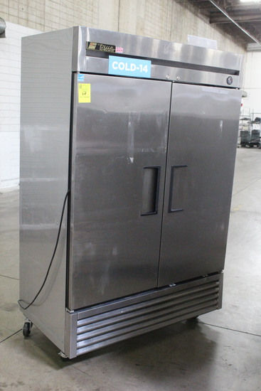 True T-49 Two Door Stainless Refrigerator