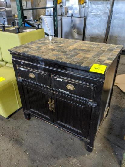 Rustic cabinet with osmosis system