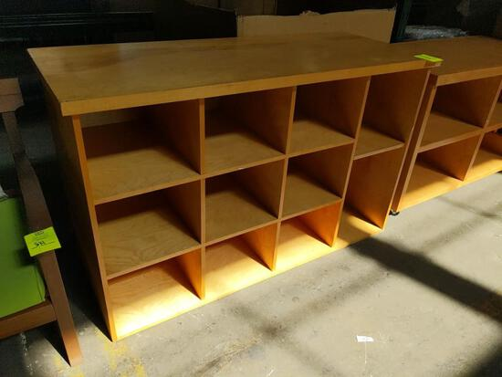 Wood 11 compartment shelf