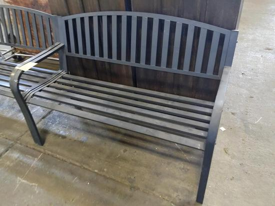 "Metal bench 50"" x 21"" x 32"""