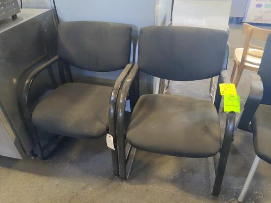 Padded arm chairs