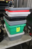 Group Of Plastic Tubs And Lids