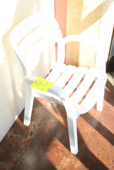 White Plastic Arm Chair