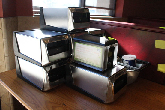 Group Of Tabletop Napkin Dispensers