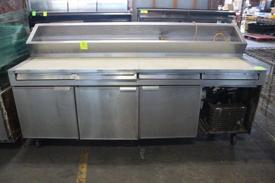 Unmarked 8' Self Contained Prep Table