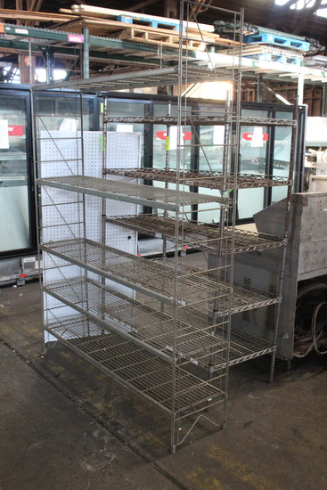 4' Metro Rack And 5' Wire Rack