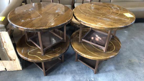 Metal Framed Wood Top Tables