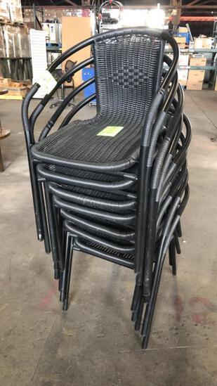 Wicker Patio Chairs W/ Metal Frame