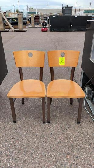 Wood cafe chairs