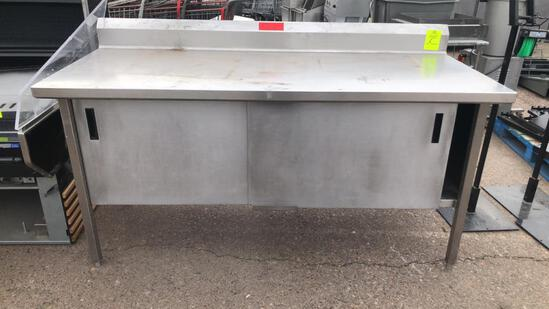 6' Stainless Steel Table W/ Cabinets