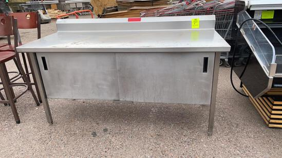 6ft stainless steel table