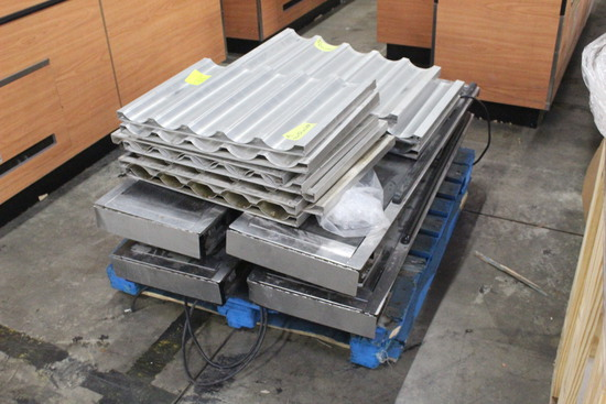 """Pallet Of Baguette Pans And 14"""" x 52"""" Conveyors"""