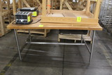 6' Wood Top Bakery Table