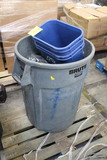 Pallet Of Assorted Trash Cans